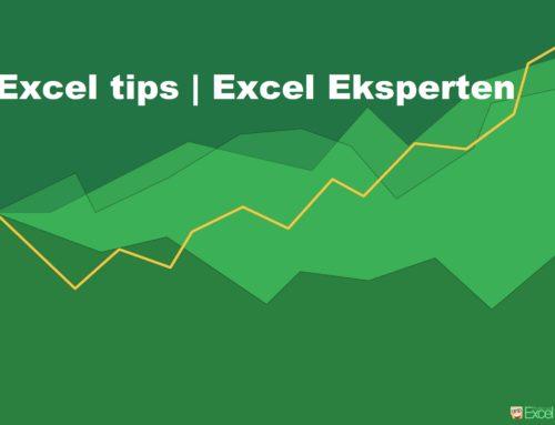 Excel tip: Excel Værdier, der starter med 0